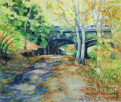Painting - The Nethermead Arches by Nancy Wait