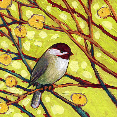 Chickadee Painting - The Neverending Story No 1 by Jennifer Lommers