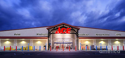 Photograph - The New Ace Hardware by Richard Mason