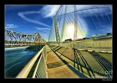 Photograph - The New And Old San Francisco Bay Bridge   by Blake Richards