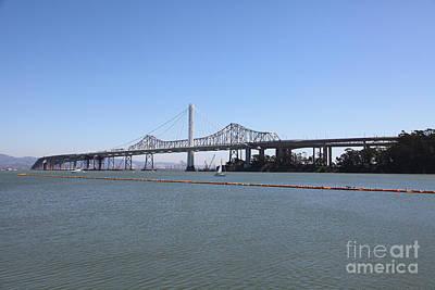 The New And The Old Bay Bridge San Francisco Oakland California 5d25359 Art Print
