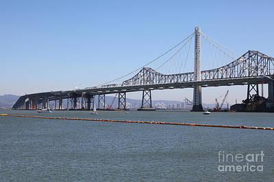The New And The Old Bay Bridge San Francisco Oakland California 5d25365 Art Print
