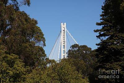 The New And The Old Bay Bridge San Francisco Oakland California 5d25391 Art Print