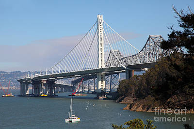 The New And The Old Bay Bridge San Francisco Oakland California 5d25405 Art Print