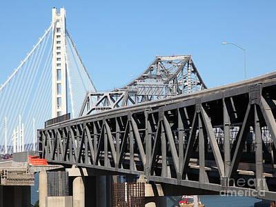 The New And The Old Bay Bridge San Francisco Oakland California 5d25429 Art Print