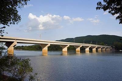 Photograph - The New Arch Street Bridge by Gene Walls