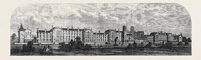 The New Barracks For The Guards At Chelsea December 21 1861 Art Print by English School