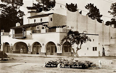Photograph - The New Carmel Theatre On Ocean Ave. 1939 by California Views Archives Mr Pat Hathaway Archives