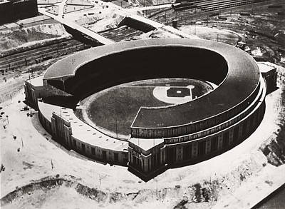 Baseball Stadiums Photograph - The New Cleveland Stadium by Underwood Archives
