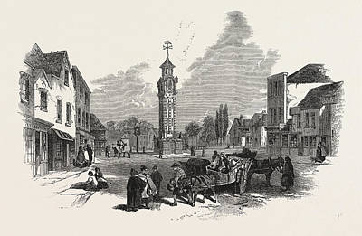 The New Clock Tower, At Epsom, Uk Art Print by English School