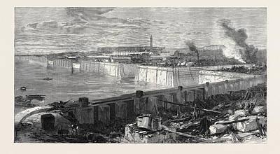 The New Docks And Repairing Basin At Chatham 1871 Art Print