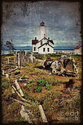 Photograph - The New Dungeness Lighthouse Vintage by Tara Turner