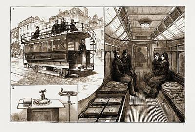 The New Electric Tramcar At Kew Bridge, London Art Print by Litz Collection