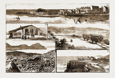 Portrush Drawing - The New Electric Tramway Between Portrush And Bushmills by Litz Collection