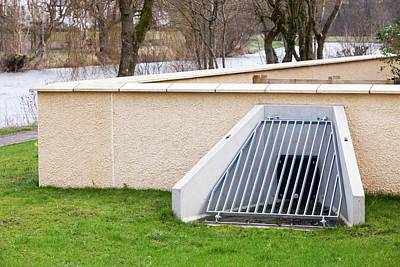 Floods Photograph - The New Flood Defences In Cockermouth by Ashley Cooper