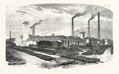 The New Forge At Woolwich, Uk, Britain, British Art Print by English School