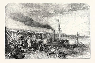 The New Holland Ferry On The Humber, Belonging Tothe Art Print by English School