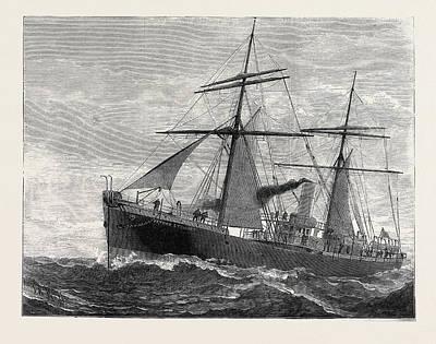 The New Indian Telegraph-ship Patrick Stewart 1879 Art Print by Indian School