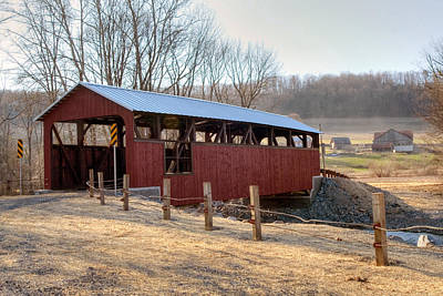 Photograph - The New Moreland Covered Bridge by Gene Walls