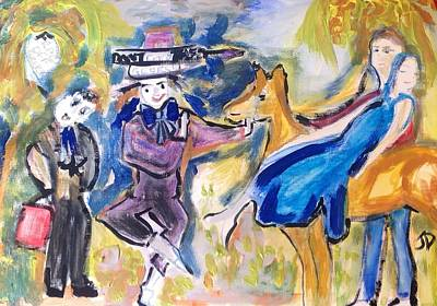 Mad Hatter Painting - The New Nativity by Judith Desrosiers