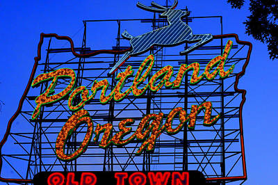 Photograph - The New Portland Oregon Sign Day Time by DerekTXFactor Creative