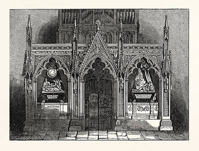 The New Screen In Westminster Abbey, London, Uk, Britain Art Print by English School