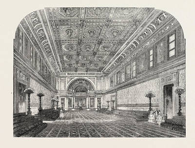 Buckingham Palace Drawing - The New State Ballroom, Buckingham Palace by English School
