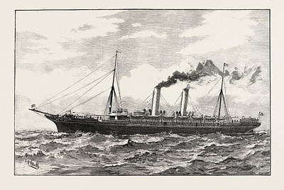 The New Steamer Scot Union Steamship Company South African Art Print by South African School