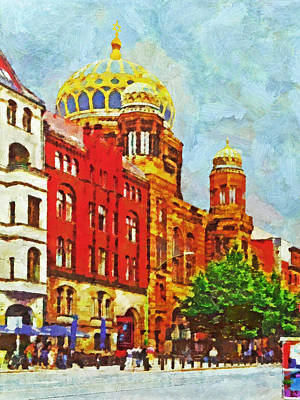 Digital Art - The New Synagogue In Berlin by Digital Photographic Arts