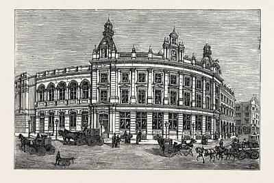The New Vestry Hall And Library, Charing Cross Road Art Print by English School