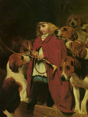 Puppies Digital Art - The New Whip by Charles Burton Barber