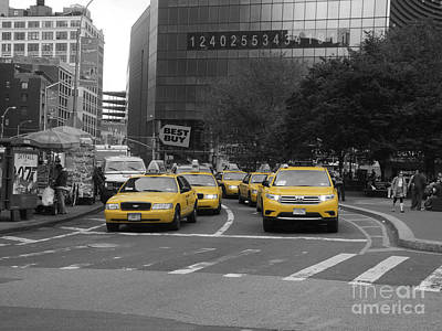 The New York Cabs Art Print
