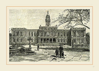 The New York City Hall, 1891 Art Print by Liszt collection