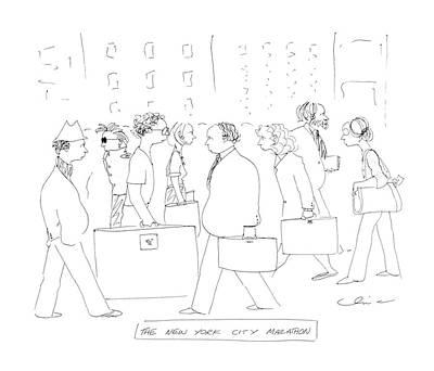 The New York City Marathon Art Print by Richard Cline