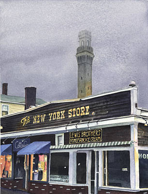 Cape Cod Painting - The New York Store by Heidi Gallo