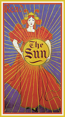 Photograph - The New York Sun 1895 by Louis John Rhead