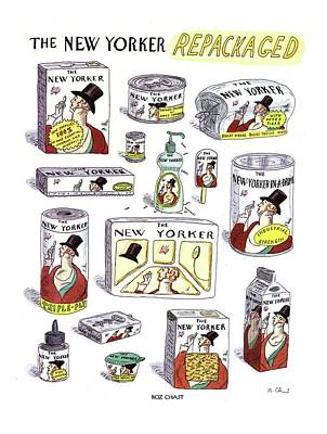Character Portraits Drawing - The New Yorker Repackaged by Roz Chast