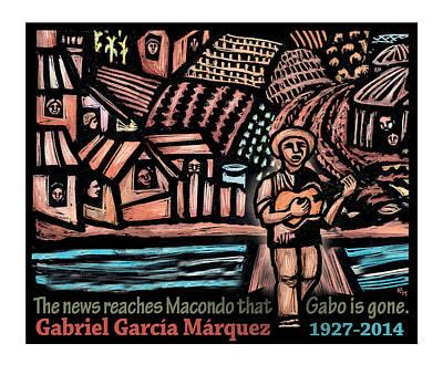 Magical Realism Mixed Media - The News Reaches Macondo by Ricardo Levins Morales