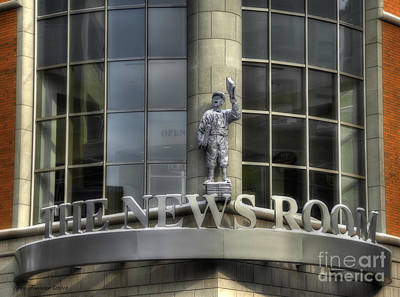 Art Print featuring the photograph The News Room by Trey Foerster