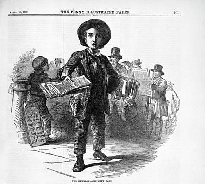 The Newsboy Art Print by British Library