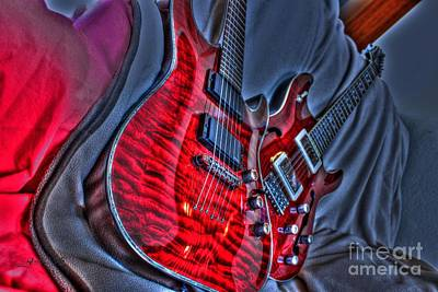 The Next Red Thing Digital Guitar Art By Steven Langston Art Print by Steven Lebron Langston