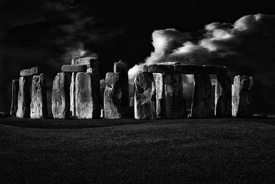 Monument Rocks Photograph - The Night Of Stonehenge by Stefan Eisele