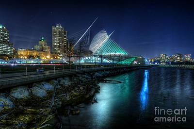 Photograph - The Night Shore At Milwaukee by John December