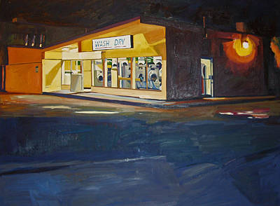 Laundry Painting - The Night Wash by Deb Putnam