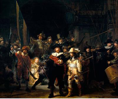 Banquet Digital Art - The Night Watch by Rembrandt van Rijn