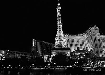 Photograph - The Nightlife Black And White by Mary Lou Chmura