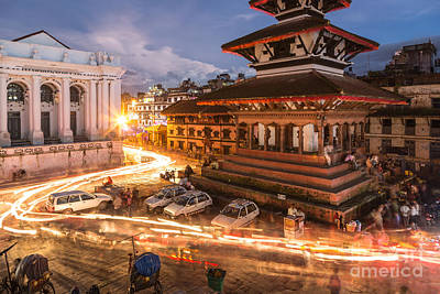 The Nights Of Stunning Kathmandu Art Print