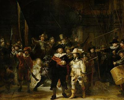 The Nightwatch, 1642 Oil On Canvas Art Print by Rembrandt Harmensz. van Rijn