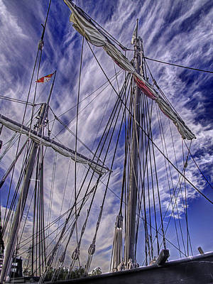 Muelle Photograph - The Nina And Pinta  Columbus Replica Ships  V12 by John Straton