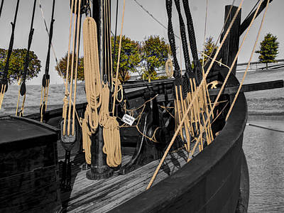 Muelle Photograph - The Nina And Pinta  Columbus Replica Ships  V13 by John Straton